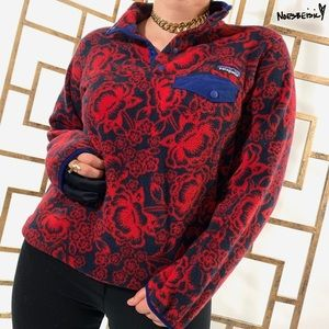 Patagonia Synchilla Snap Floral Pullover